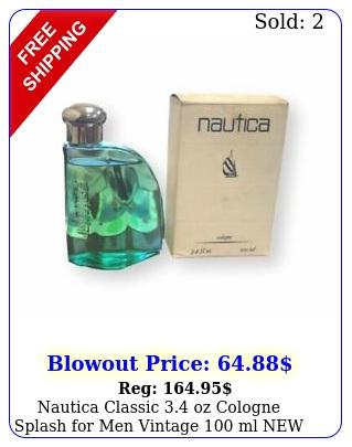 nautica classic oz cologne splash men vintage ml imperfec