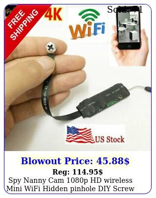 spy nanny cam p hd wireless mini wifi hidden pinhole diy screw camera dv