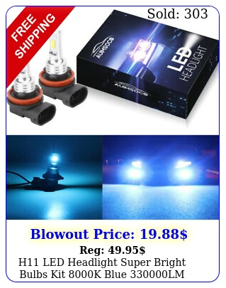 h led headlight super bright bulbs kit k blue lm highlow bea
