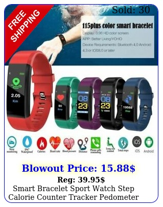 smart bracelet sport watch step calorie counter tracker pedometer watch band u