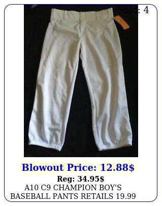 a c champion boy's baseball pants retails size xl new whit