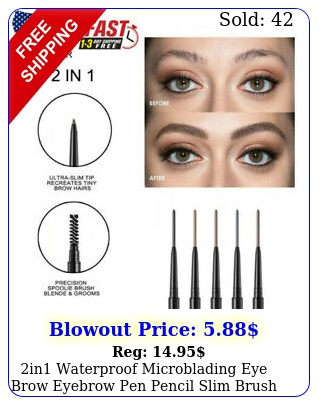 in waterproof microblading eye brow eyebrow pen pencil slim brush makeup tool