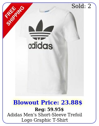 adidas men's shortsleeve trefoil logo graphic tshir