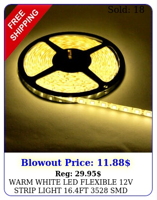 warm white led flexible v strip light ft smd wire rope waterproo