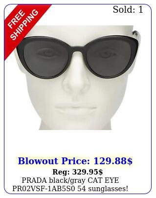 prada blackgray cat eye prvsfabs sunglasses in box authenti