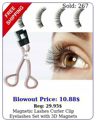 magnetic lashes curler clip eyelashes set with d magnets reusable false lashe