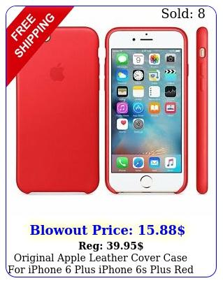 original apple leather cover case iphone plus iphone s plus red mkxgbz