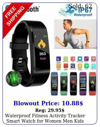 waterproof fitness activity tracker smart watch women men kids android io