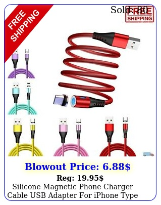 silicone magnetic phone charger cable usb adapter iphone type c micro i