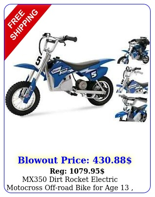 mx dirt rocket electric motocross offroad bike age  up to blu