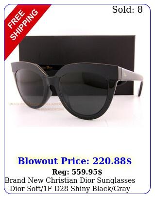 brand christian dior sunglasses dior softf d shiny blackgray wome