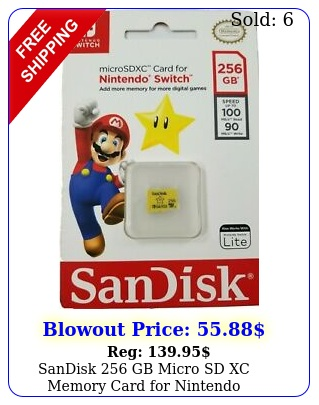 sandisk gb micro sd xc memory card nintendo switchswitch lite genuin