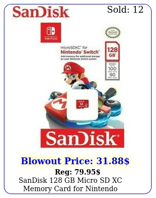 sandisk gb micro sd xc memory card nintendo switchswitch litegenuin