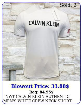 nwt calvin klein authentic men's white crew neck short sleeve tshirt size s m