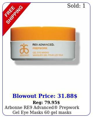 arbonne re advanced prepwork gel eye masks gel mask