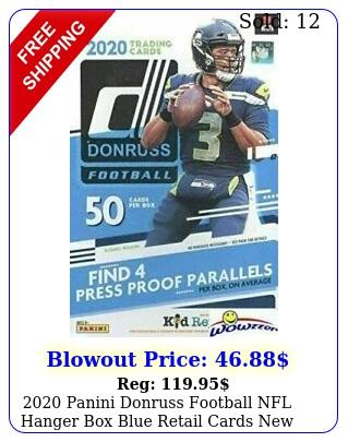 panini donruss football nfl hanger blue retail cards seale