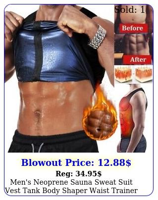 men's neoprene sauna sweat suit vest tank body shaper waist trainer vest workou