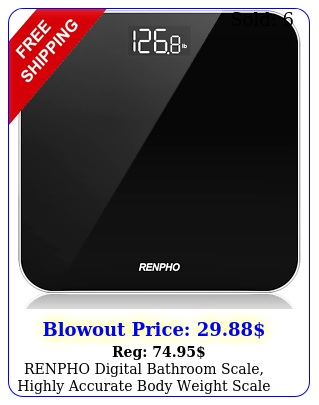 renpho digital bathroom scale highly accurate body weight scale with lighted l