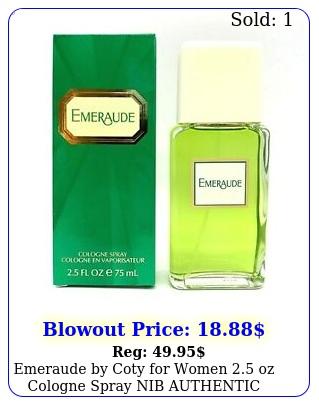 emeraude by coty women oz cologne spray nib authenti