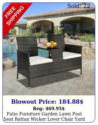 patio furniture garden lawn pool seat rattan wicker lover chair yard outdoor se