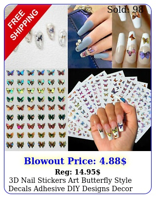 d nail stickers art butterfly style decals adhesive diy designs decor u