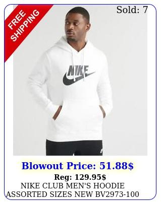 nike club men's hoodie assorted sizes b