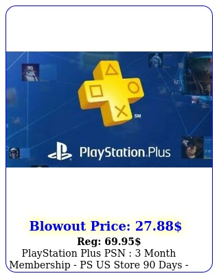 playstation plus psn  month membership ps us store days ps instan
