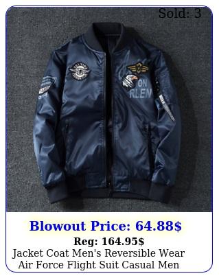 jacket coat men's reversible wear air force flight suit casual me