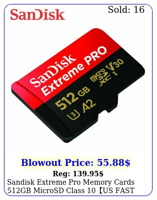 sandisk extreme pro memory cards gb microsd class us fast free shippin