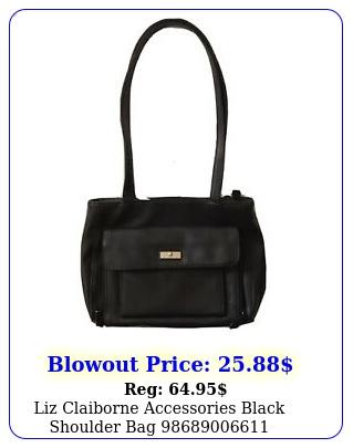 liz claiborne accessories black shoulder ba