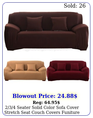 seater solid color sofa cover stretch seat couch covers funiture slipcove