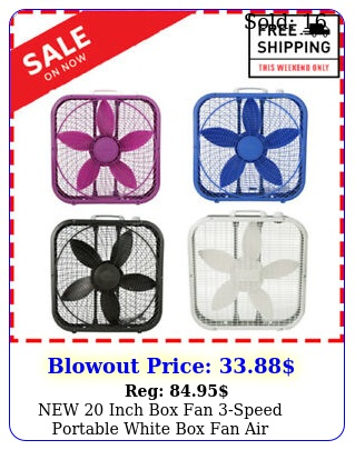 inch fan speed portable white fan air circulation conditione