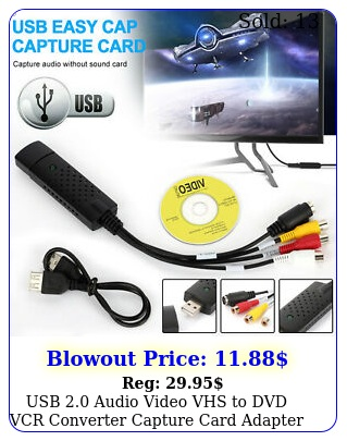usb audio video vhs to dvd vcr converter capture card adapter digital forma