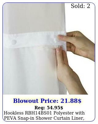 hookless rbhbs polyester with peva snapin shower curtain liner brigh