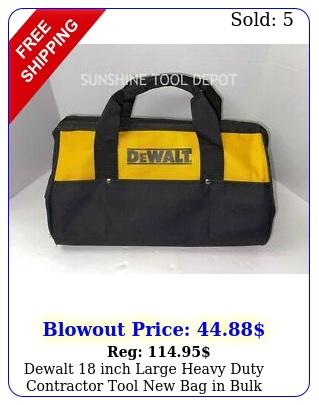 dewalt inch large heavy duty contractor tool bag in bulk packagin
