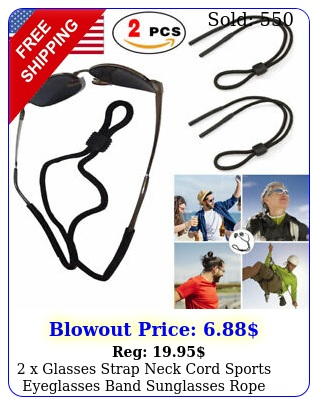 x glasses strap neck cord sports eyeglasses band sunglasses rope string holde