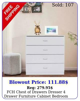 fch chest of drawers dresser drawer furniture cabinet bedroom storage whit