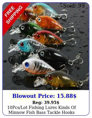 pcslot fishing lures kinds of minnow fish bass tackle hooks baits crankbai