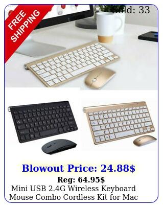 mini usb g wireless keyboard  mouse combo cordless kit mac pc compute