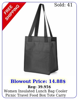 women insulated lunch bag cooler picnic travel food tote carry bags blac