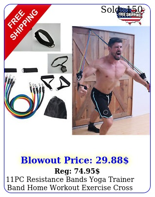 pc resistance bands yoga trainer band home workout exercise cross fit fitnes
