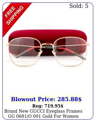 brand gucci eyeglass frames gg o  gold women men m