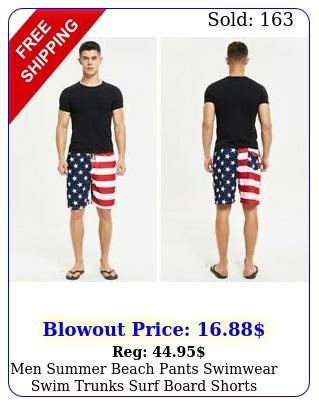 men summer beach pants swimwear swim trunks surf board shorts american usa fla