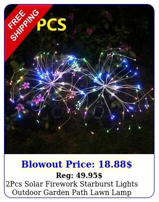 pcs solar firework starburst lights outdoor garden path lawn lamp le