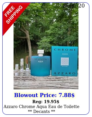 azzaro chrome aqua eau de toilette decant
