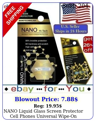 nano liquid glass screen protector cell phones universal wipeon invisible h
