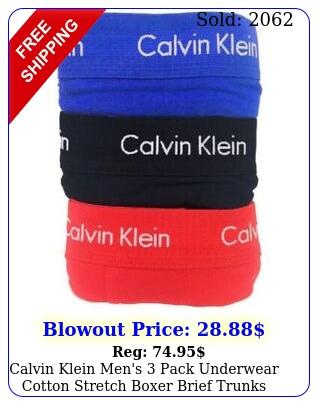 calvin klein men's pack underwear cotton stretch boxer brief trunk
