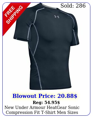 under armour heatgear sonic compression fit tshirt men sizes navy blue nw