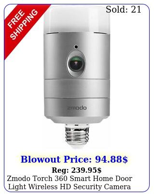 zmodo torch smart home door light wireless hd security camer