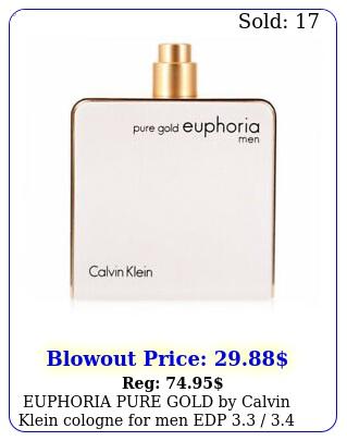 euphoria pure gold by calvin klein cologne men edp  oz teste